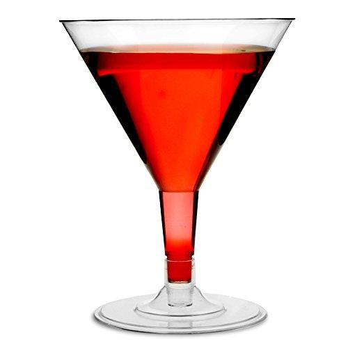 einweg cocktailglaeser Einweg Martini Gläser 142ml/140ml–Set von 12–Klar Kunststoff 2-teilig Cocktail Glas