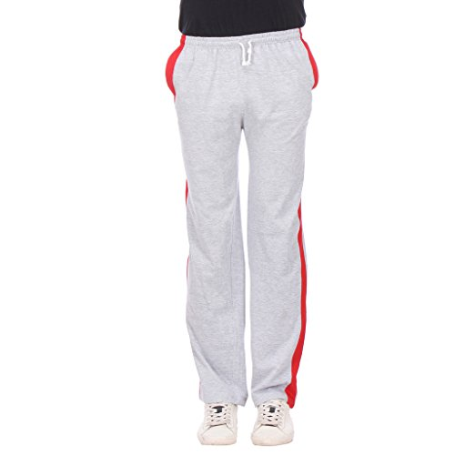 TeesTadka Solid Men's Track Pants TRK MELANGE 22_S_Grey_Small  available at amazon for Rs.449