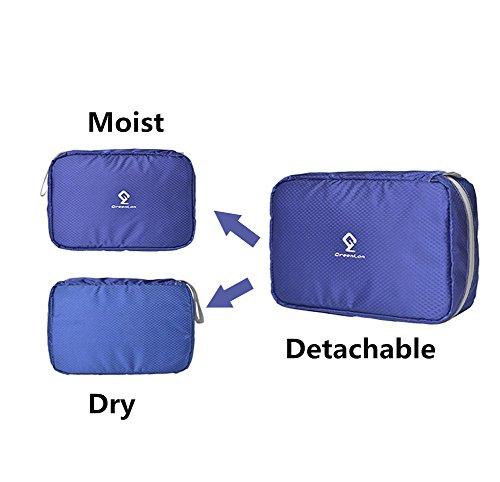 Organizzatore da Viaggio - Trucco Cosmetico Portatile Organizzatore Borsa da Toilette - Borsetta da Viaggio Wash Bag Organizzare Blue