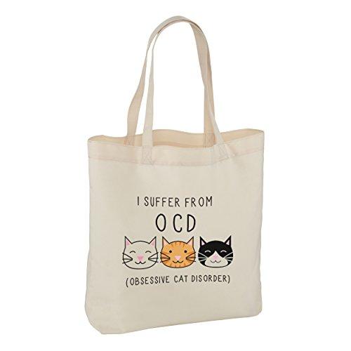 I SUFFER VON OBSESSIVE Cat STÖRUNG TRAGETASCHE SCHULTERTASCHE - Crazy Cat Lady O.C.D