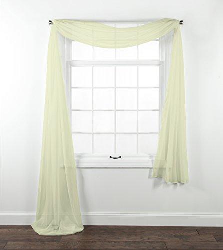 Stylemaster Home Produkte Eleganz Sheer Voile Schal, 40von 216-inch, beige - Schiere Belle
