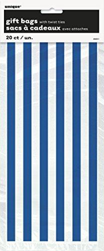 Cadeau Bleu Sacs avec Twist Ties - Lot de 20