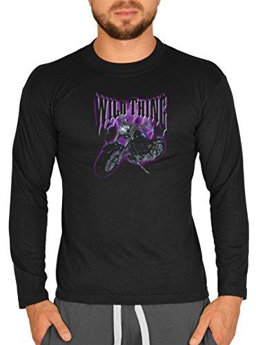 Biker Hemd - Chopper - Wild Thing - Langarm-Shirt für echte Kerle Schwarz