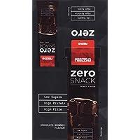 Prozis Zero Snack - Barra rico en proteína y Bajo en Hidratos de Carbono y Azúcares, 12x35g, Brownie de Chocolate
