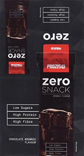 Zero Snack Prozis 12x 35 g -Meilleur parfum de brownie au chocolat - Riche en protéines et faible en glucides et en sucre - Idéal pour un régime et agréable
