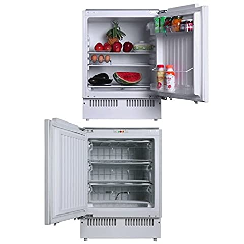 SIA Integrated Under counter Larder Fridge & Freezer Twin Pack A+