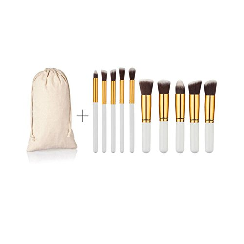 CYBERRY.M 10pcs Maquillage CosméTique Brosse Pinceau Teinte Fard à PaupièRes (Blanc)
