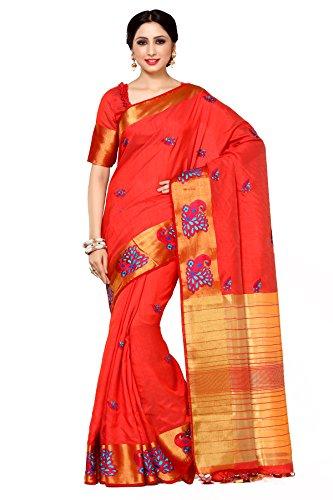 Mimosa By Kupinda Women's Tussar Silk Saree Kanjivaram Style (Latest Designer Sarees /Party wear sarees /New collection sarees Color