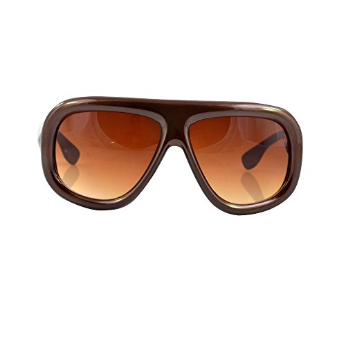 "Alpha Man ""American Rebel Original"" Oversized Shape Sunglasses (Brown)"