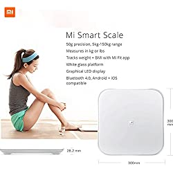 Xiaomi Mi Smart Scale - Bascula inteligente con Bluetooth, blanco