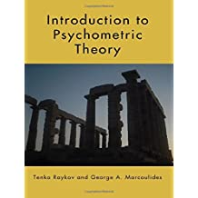 Introduction to Psychometric Theory by Tenko Raykov (2010-09-22)