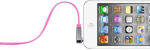 Belkin flaches Audio-Kabel (3,5 mm auf 3,5 mm mit abgewinkeltem Klinkeanschluss, 0,9 m) pink