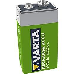 Varta - Pile 9V rechargeable Accu Ready2Use (200mAh)
