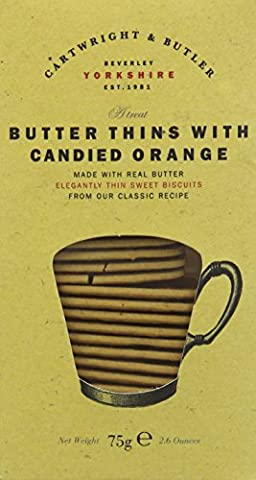 Cartwright & Butler Butter Thins with Candied Orange 75