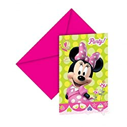 Minnie Mouse Party - Minnie Bow-tique Party Invitations X 6