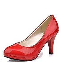 Las Mujeres Bombas Punta Puntera Zapatos Tacones Altos Barco Boda Aumento Impermeable Zapatos Plataforma