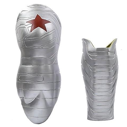 Cosplay Kostüm Bucky Arm Sleeve PVC Prop für Erwachsene Halloween Verrücktes Kleid Zubehör Kleidung Merchandise Replik