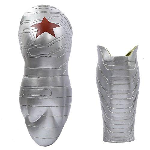 Xcoser Halloween Bucky Arm Sleeve PVC Prop Film Cosplay Kostüm Replik für Erwachsene Herren verrücktes Kleid Merchandise ()