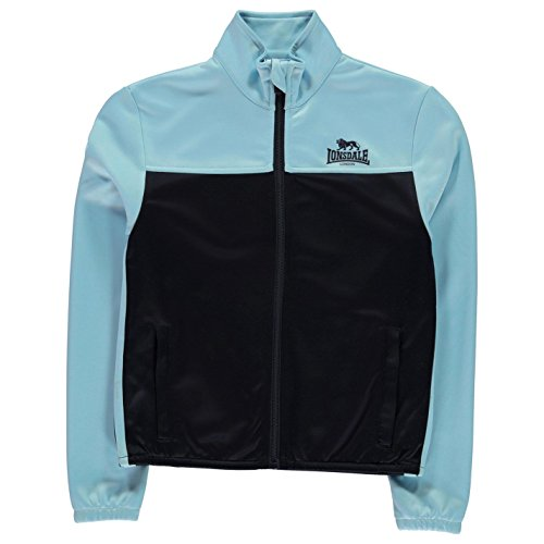 Lonsdale Mädchen 2 Streifen Trainingsjacke Stehkragen Marineblau/Cool Blau 13 Jahre