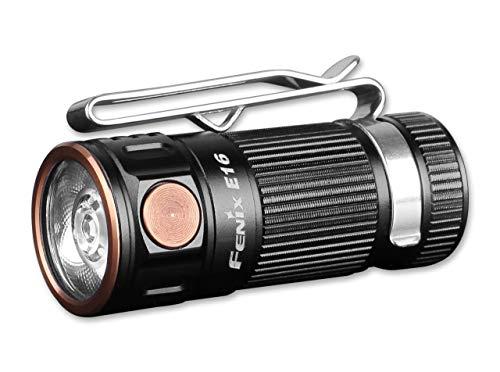 Fenix Unisex- Erwachsene E16 Taschenlampe, schwarz, 5,1 cm