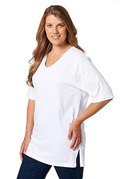 Ulla Popken T-Shirt V-Ausschnitt, Camiseta para Mujer