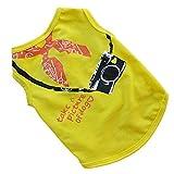 Hawkimin Haustier Ärmellos T-Shirt Sommer Mode Kamera Bedruckte Baumwolle Unisex Weste Sweatshirt Pullover Hundekleid Welpe Bekleidung für Kleiner Hund