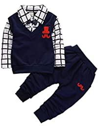 Baby Toddler Smart Tracksuit spring autumn Baby Boy Clothes Set Children Clothing Sets Products Kids Clothes Baby Boys T-shirts+Trousers 2PCS Tracksuit