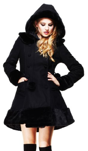 Hell Bunny -  Cappotto  - Donna Black Small