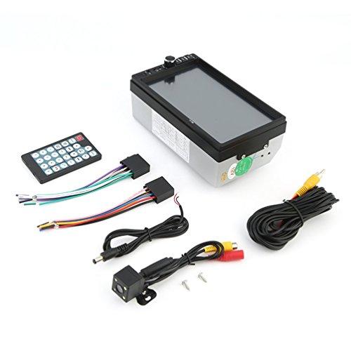 Voiture Véhicule 7 Pouces Écran TF Carte Doule Din Bluetooth MP5 Lecteur Auto Lecteur Multimédia Audio Lecteur Noir
