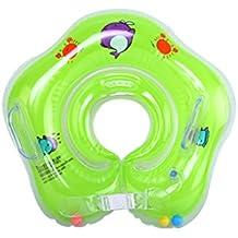 WinCret Flotador Cuello Bebe Ajustable Inflable Doble Airbag Flotador Cuello para 1-18 Meses Bebé