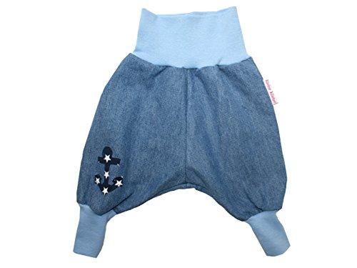 """Baby Jeanshose """"Anker"""" marine Gr. 62 - 104 von Kleine Könige Größe 74/80, Farbe marineblau"""