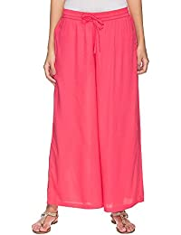 STOP By Shoppers Stop Womens Solid Flared Palazzo Pants