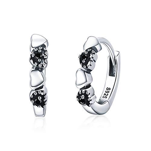 GDDX - Orecchini a cerchio da donna, in argento Sterling 925, a forma di cuore, idea regalo per San Valentino e 925, colore: bianco, cod. GDDE001