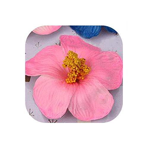 Strawberryran Plumeria 100Pcs 9cm Schaum Frangipane Blumen Künstliche Tropical Hibiscus 16 Farben-Schaum-Blumen-Köpfe, Deep Pink (Hibiscus Flower Vase)