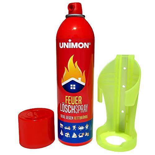 feuerloescher spray Schaum Feuerlöscher Spray | Feuerlöschspray gegen Fett und Festbrand mit Wandhalterung für Auto Haushalt Küche Wohnmobil