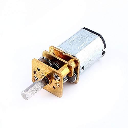 Yosoo Mini DC 6 / 12V Kurzer Welle Drehmoment Getriebemotor 50 / 200 / 300 RPM mit Metall Getriebe Ersatz N20 für RC-Car, Roboter Modell, DIY Engine Spielzeug (6V 50RPM) -