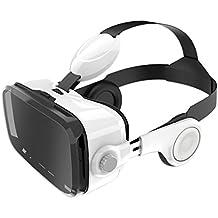 Leelbox Tout dernier casque de réalité virtuelle 3D avec fonction audio intégré. Réponse appel, Volume réglable, Compatible avec iPhone, Samsung LG et autres smartphones