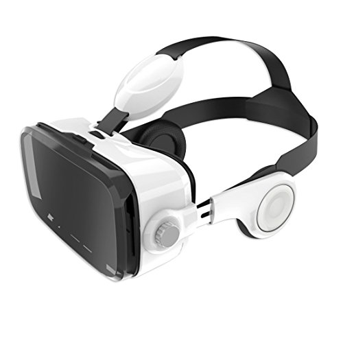 Leelbox 3D Virtual Reality Headset VR glasses with Headphones Integrated Audio Function. Answer call, Volume adjustable, Compatible with iPhone, Samsung LG and other Android Smartphones
