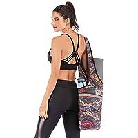 Ducomi Bolsa para Esterilla de Yoga - Funda para Gimnasio con Bolsillo para Agua, Toalla y Accesorios - Bolsa Funcional de Bandolera para Deporte, Fitness, Pilates - Regalo Mujer (Mantra)
