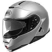 Shoei Casco Convertible Moto Neotec 2 Plain Light Plata (L, Plata)
