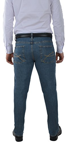 Herren Jeans Hose Straight Leg gerader Schnitt Jeanshose W30 bis W46 Big Size Classic Blue
