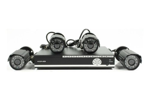 KÖNIG Security Set mit 500 GB DVR und 4 Kameras SEC-SETDVR40 500 Gb Dvr