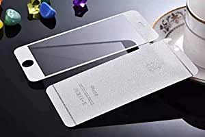 ACCWORLD Premium HD Finish White Textured Front & Back Tempered Glass for Iphone 6/6s