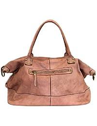 86a1e4b3492cb BZNA Bag Joe alt rosa Italy Designer Weekender Damen Reise Tasche  Handtasche Schultertasche Leder…