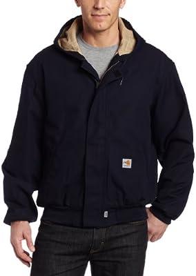 Carhartt - Chaqueta de Lona para Hombre (Resistente al Fuego, tamaño Grande y Alto) - Azul - 4X-Large