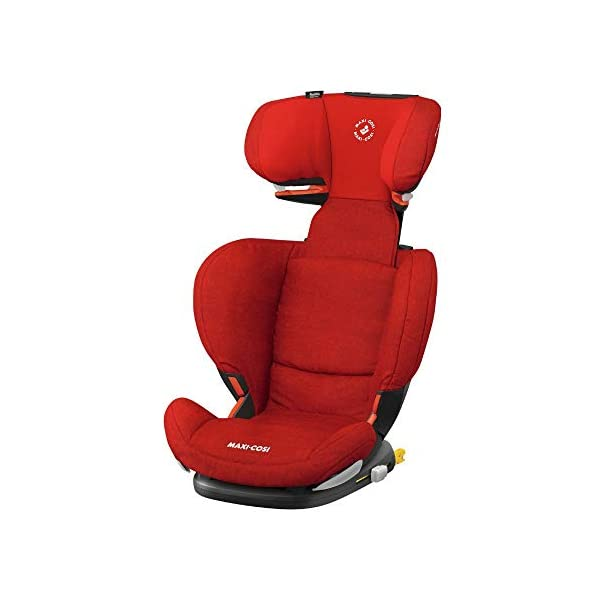 Maxi-Cosi RodiFix AirProtect Child Car Seat, ISOFIX Booster Seat, Extra Protection, 3.5-12 Years, 15-36 kg, Nomad Red Maxi-Cosi Outstanding side impact protection - with the combination of patented air protect technology Patented air protect technology in headrest - the risk of head and neck injuries are reduced up to 20% Quick and easy to buckle your child up with the 'easy-glide' system and clear belt routing 1