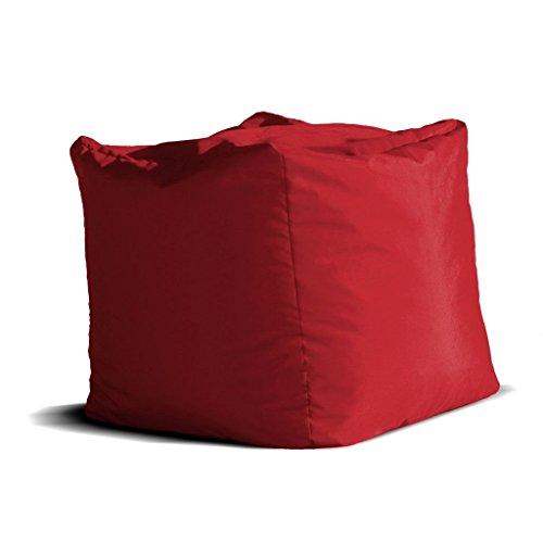 Avalon pouf cubo jive tessuto tecnico antistrappo rosso imbottito