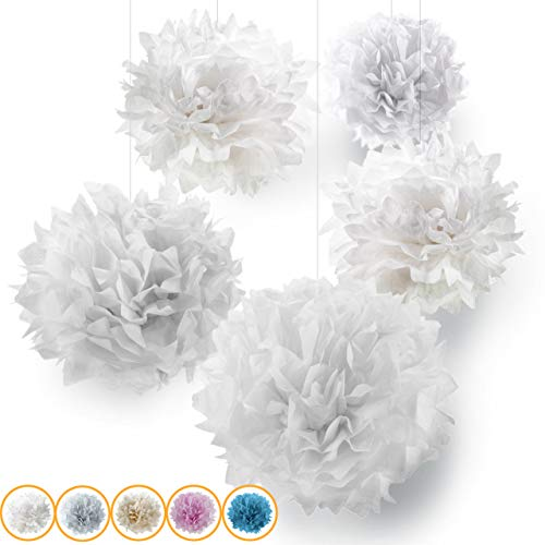 Seidenpapier PomPoms 10er Set