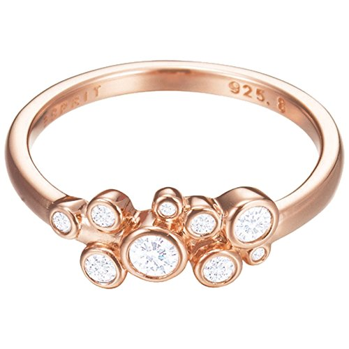 Esprit Essential Damen-Ring ROSE 925 Silber rhodiniert Zirkonia transparent