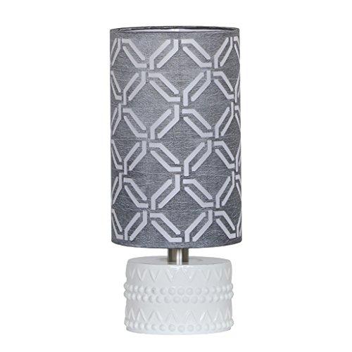 Home experience- Lampe de Table Créativité Simple Style Moderne Chambre Chevet Lampe Étude Lecture Lumière Interrupteur de Puissance Bouton (Couleur : Gray)